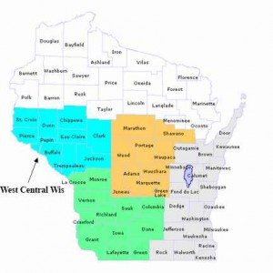 west central wisconsin trout map