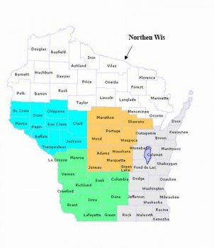 Wisconsin-trout-reagions-northen