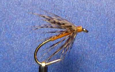 Gold Ribbed Hares Ear Hair Wing
